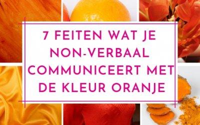 7 Feiten wat je non-verbaal communiceert met de kleur oranje