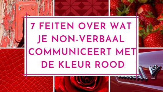 7 feiten over wat je non-verbaal communiceert met de kleur rood